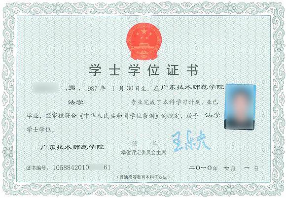 本科学士学位证